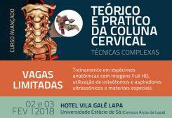 Curso Avançado Teórico e Prático da Coluna Cervical Técnicas Complexas (02 e 03 FEV | 2018)