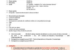 Edital Fellow Coluna Vertebral IOT Joinville 2020-2022
